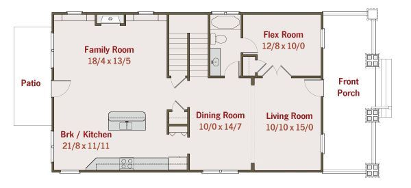 Craftsman Floor Plan - Main Floor Plan Plan #461-34