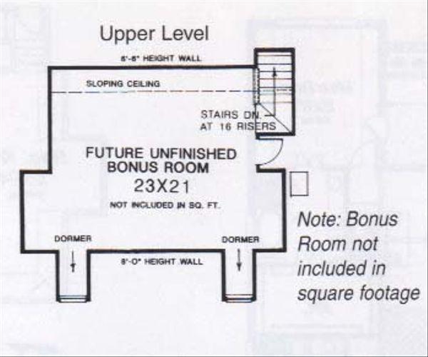 Farmhouse Floor Plan - Upper Floor Plan #310-834