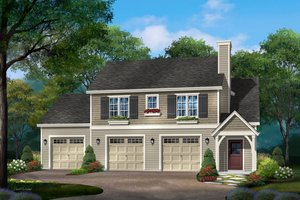Architectural House Design - Craftsman Exterior - Front Elevation Plan #22-627