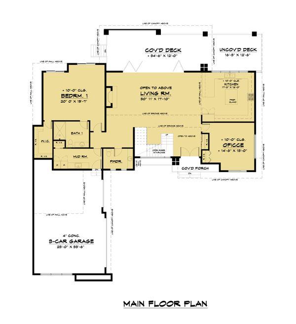 Dream House Plan - Contemporary Floor Plan - Main Floor Plan #1066-110