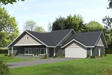 Dream House Plan - Ranch Exterior - Front Elevation Plan #117-890