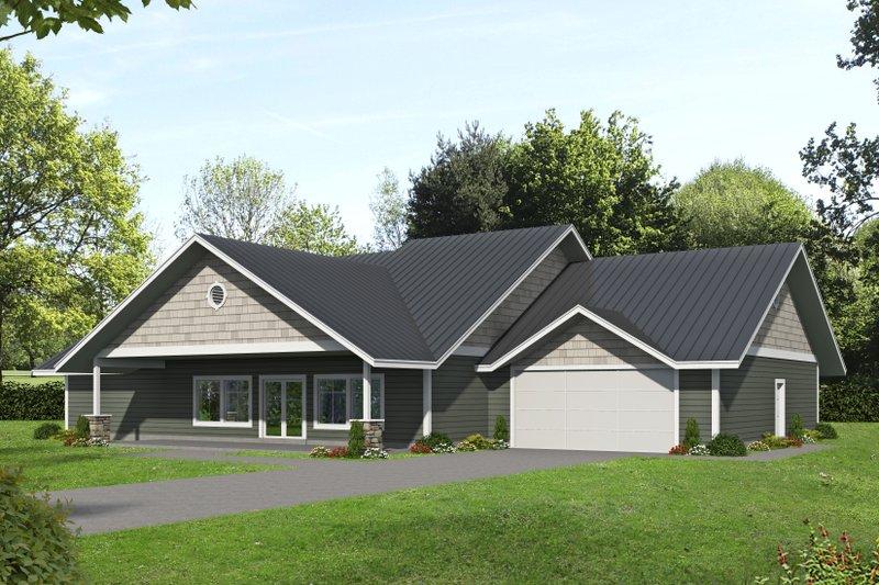 House Plan Design - Ranch Exterior - Front Elevation Plan #117-890