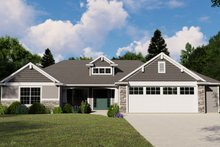 Architectural House Design - Ranch Exterior - Front Elevation Plan #1064-112