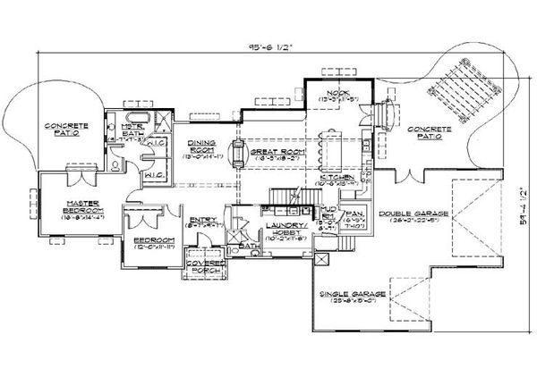 Ranch Floor Plan - Main Floor Plan Plan #5-387