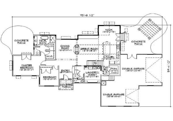 Home Plan - Ranch Floor Plan - Main Floor Plan #5-387