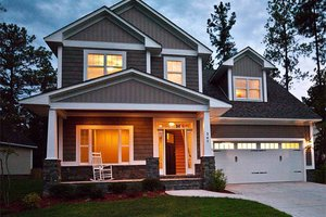 Front View - 1950 square foot Craftsman home