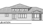 House Plan - 3 Beds 2 Baths 1810 Sq/Ft Plan #70-615 Exterior - Rear Elevation