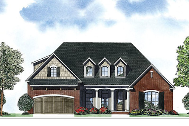 European Exterior - Front Elevation Plan #17-2418