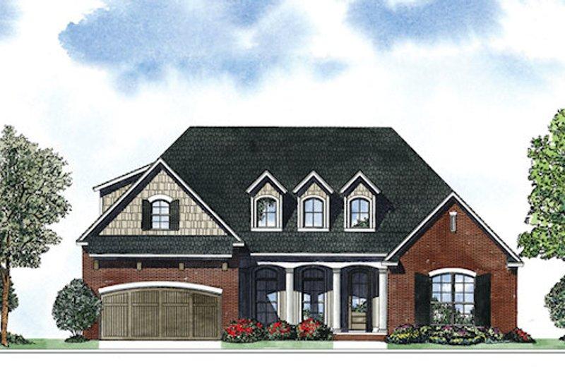 Dream House Plan - European Exterior - Front Elevation Plan #17-2418