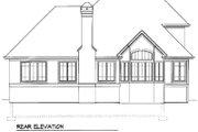 European Style House Plan - 3 Beds 2.5 Baths 2148 Sq/Ft Plan #41-152 Exterior - Rear Elevation