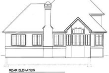 Home Plan Design - European Exterior - Rear Elevation Plan #41-152