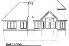 Home Plan - European Exterior - Rear Elevation Plan #41-152