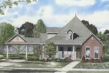House Plan Design - Southern Exterior - Front Elevation Plan #17-2104