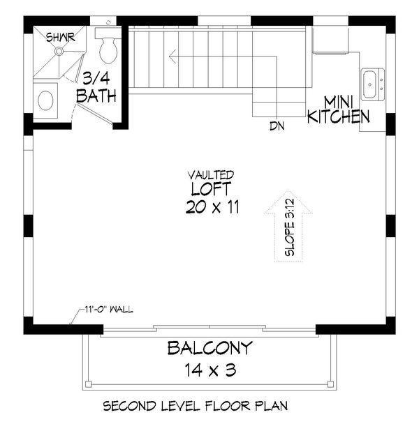 Home Plan - Contemporary Floor Plan - Upper Floor Plan #932-177