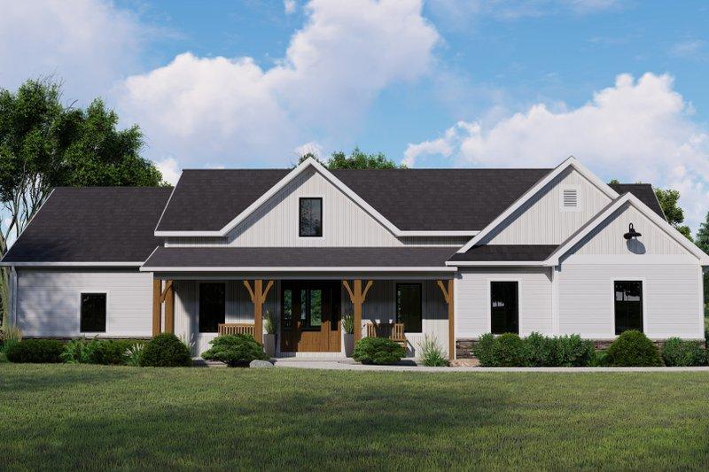 House Plan Design - Farmhouse Exterior - Front Elevation Plan #1064-123