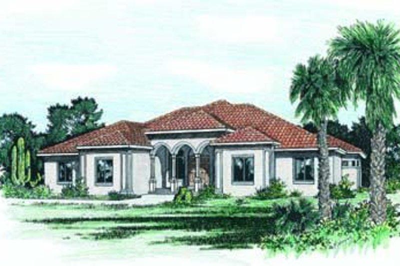 Dream House Plan - Mediterranean Exterior - Front Elevation Plan #20-992