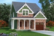 Traditional Style House Plan - 4 Beds 3.5 Baths 2251 Sq/Ft Plan #419-243 Exterior - Front Elevation