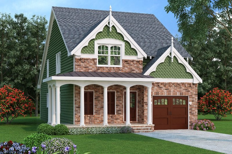Dream House Plan - Traditional Exterior - Front Elevation Plan #419-243