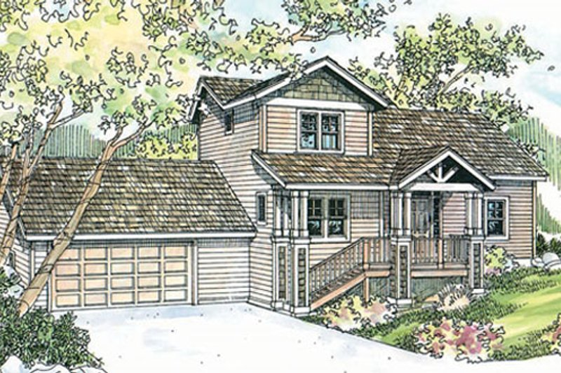 Traditional Exterior - Front Elevation Plan #124-717 - Houseplans.com