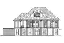 Ranch Exterior - Rear Elevation Plan #45-579