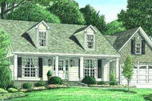 Architectural House Design - Traditional Exterior - Front Elevation Plan #34-164