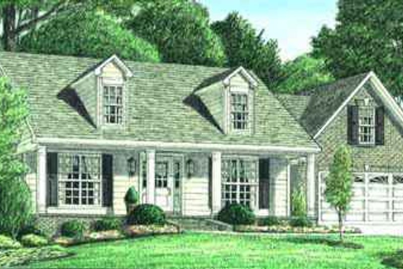 House Plan Design - Traditional Exterior - Front Elevation Plan #34-164