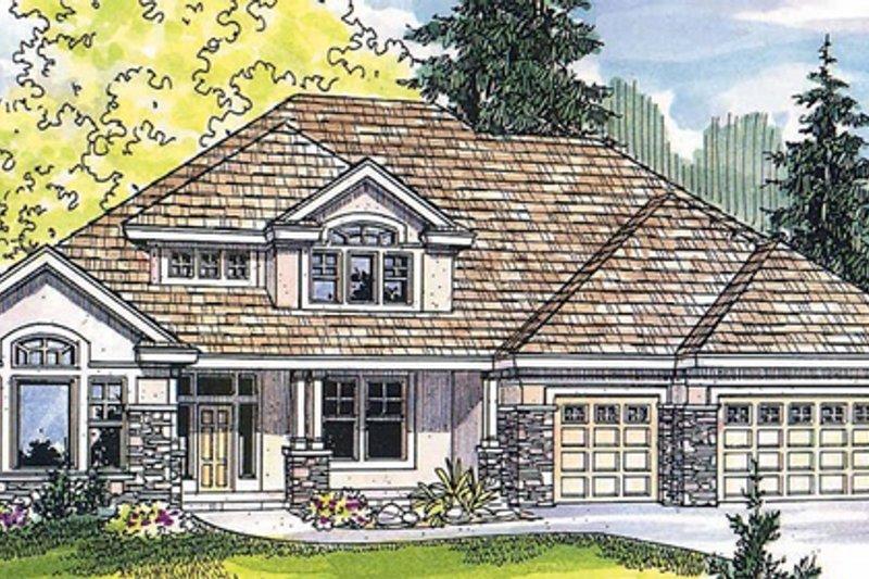 Craftsman Exterior - Front Elevation Plan #124-481