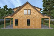 Cabin Style House Plan - 2 Beds 2 Baths 1646 Sq/Ft Plan #1070-100 Exterior - Rear Elevation