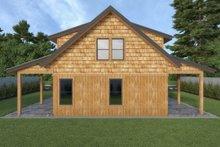Cabin Exterior - Rear Elevation Plan #1070-100