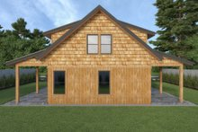 Dream House Plan - Cabin Exterior - Rear Elevation Plan #1070-100