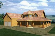 Bungalow Style House Plan - 3 Beds 2.5 Baths 1946 Sq/Ft Plan #117-539 Exterior - Front Elevation