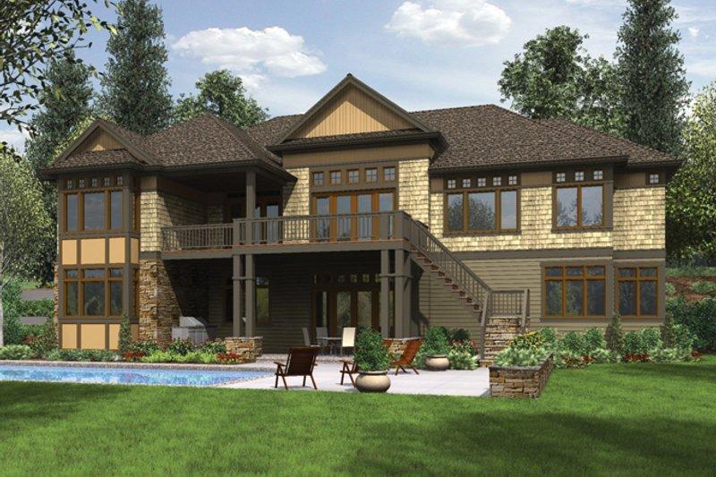 Craftsman Exterior - Rear Elevation Plan #48-904 - Houseplans.com