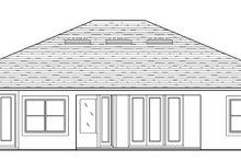 House Plan Design - Mediterranean Exterior - Rear Elevation Plan #1058-128