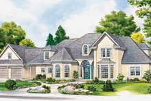 Dream House Plan - European Exterior - Front Elevation Plan #140-184