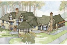 Architectural House Design - Country Exterior - Rear Elevation Plan #928-24