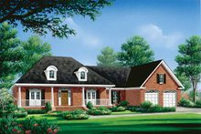 Classical Exterior - Front Elevation Plan #21-410