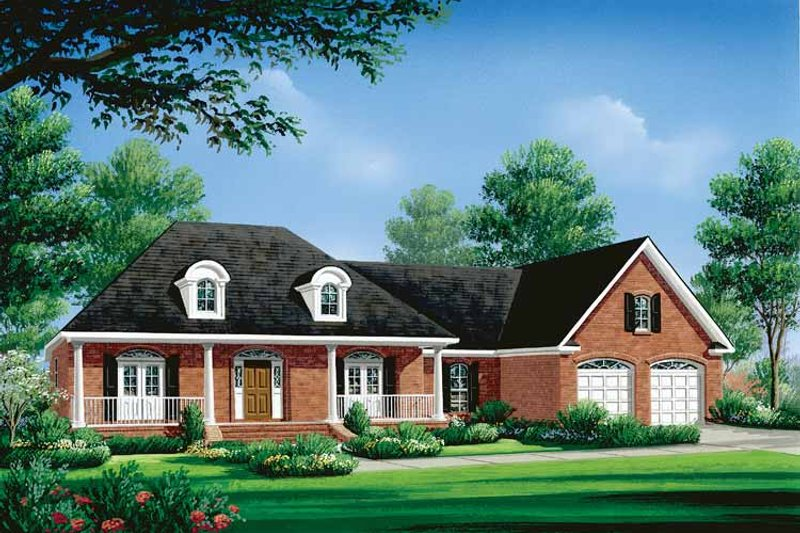 Home Plan - Classical Exterior - Front Elevation Plan #21-410