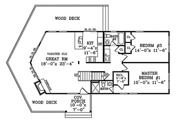 Cabin Floor Plan - Main Floor Plan Plan #314-285