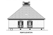 Southern Exterior - Rear Elevation Plan #45-253