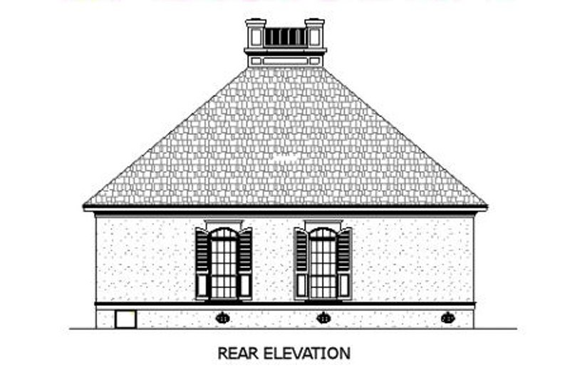 Southern Exterior - Rear Elevation Plan #45-253 - Houseplans.com