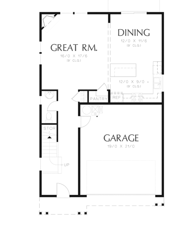 Traditional Floor Plan - Main Floor Plan Plan #48-912