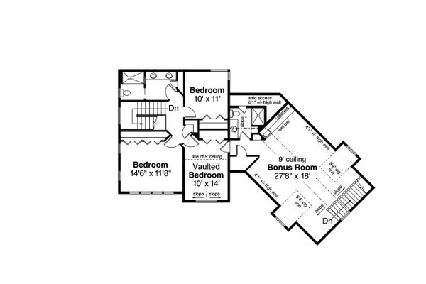 Dream House Plan - Country Floor Plan - Upper Floor Plan #124-1208