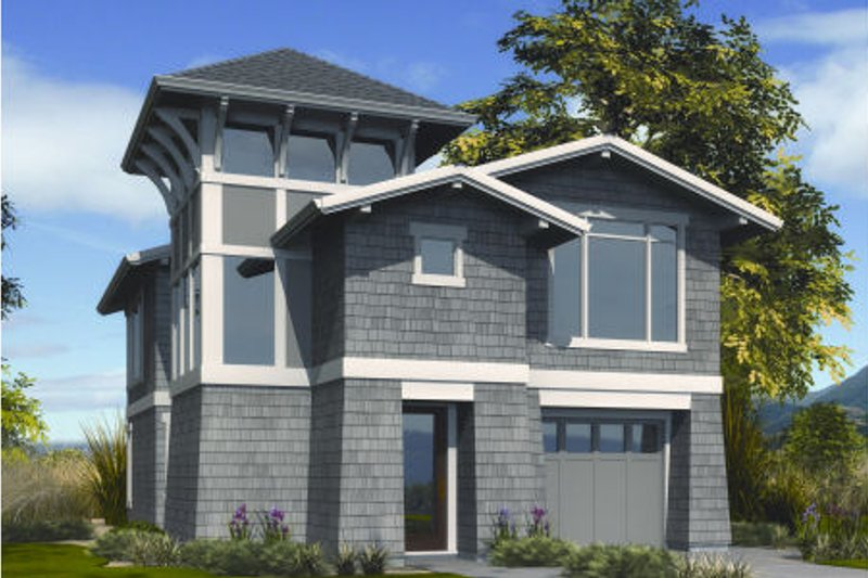 Craftsman Exterior - Front Elevation Plan #48-266