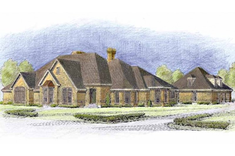 Home Plan - European Exterior - Front Elevation Plan #410-119