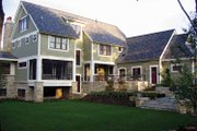 Craftsman Style House Plan - 4 Beds 3.5 Baths 4610 Sq/Ft Plan #928-19 Exterior - Rear Elevation