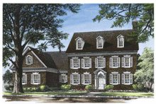 Classical Exterior - Front Elevation Plan #137-316