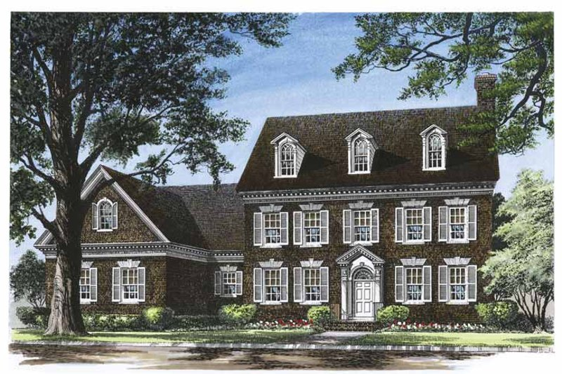 Architectural House Design - Classical Exterior - Front Elevation Plan #137-316