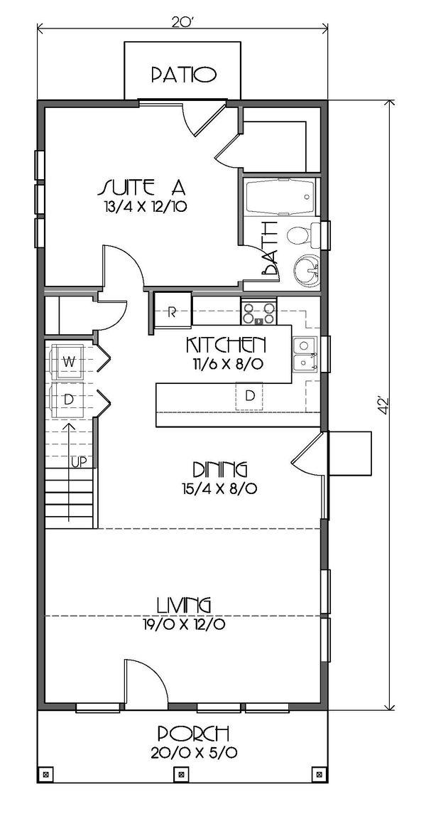 Craftsman Floor Plan - Main Floor Plan Plan #423-51