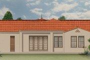 Mediterranean Style House Plan - 4 Beds 3 Baths 2031 Sq/Ft Plan #1058-7 Exterior - Rear Elevation