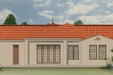House Plan Design - Mediterranean Exterior - Rear Elevation Plan #1058-7